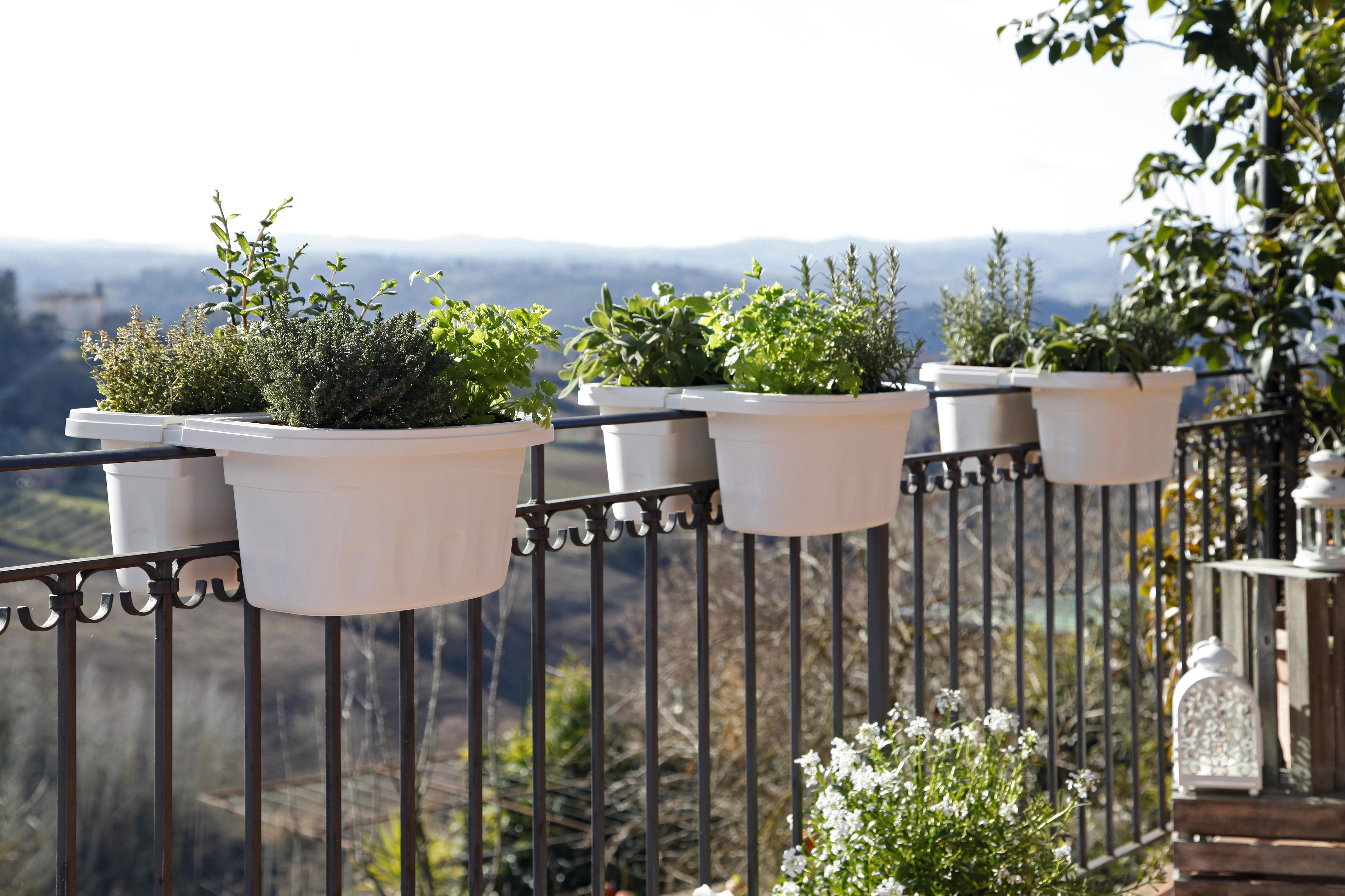 Vasi Per Piante Da Terrazzo fioriera bama klunia doppia vaso da balcone ringhiera fiori